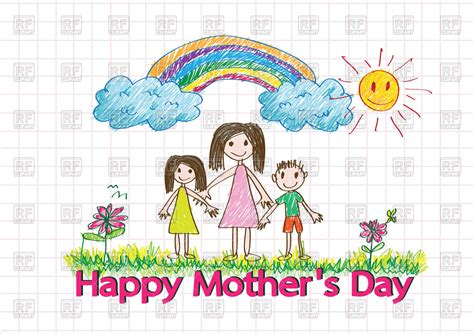 S Day Drawing Kid Mothers Day Clipart