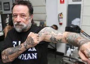anti government tattoos bikie offers free tattoos to protest anti bikie laws