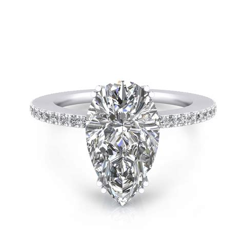 engagement rings with pear cut shape and 40