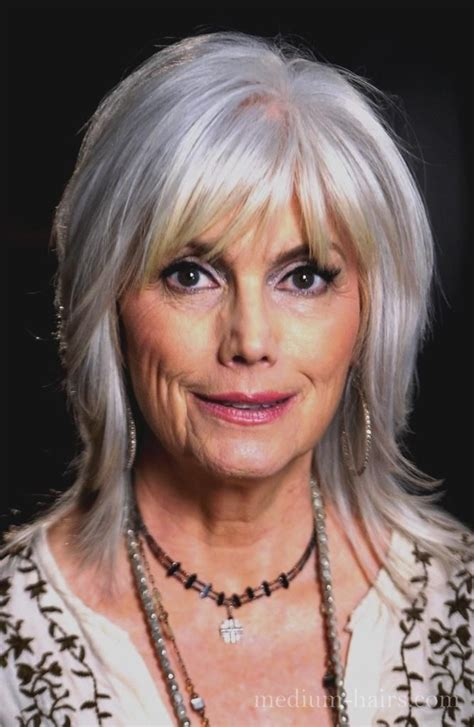 mid length hairstyles for the older person medium shag hairstyles for older women with bangs jpg 667