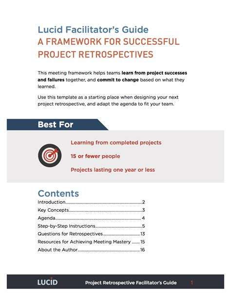 Project Retrospective Template by A Framework For Successful Project Retrospectives Lucid