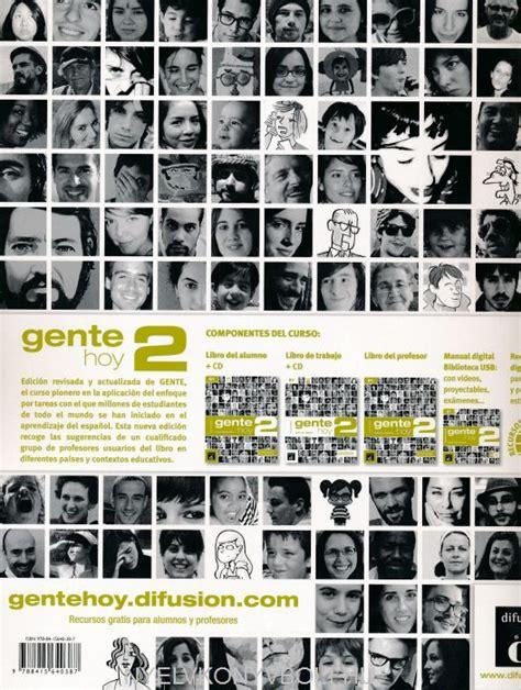 gente hoy libro de gente hoy 2 libro de trabajo con cd audio nyelvk 246 nyv forgalmaz 225 s nyelvk 246 nyvbolt nyelvk 246 nyv