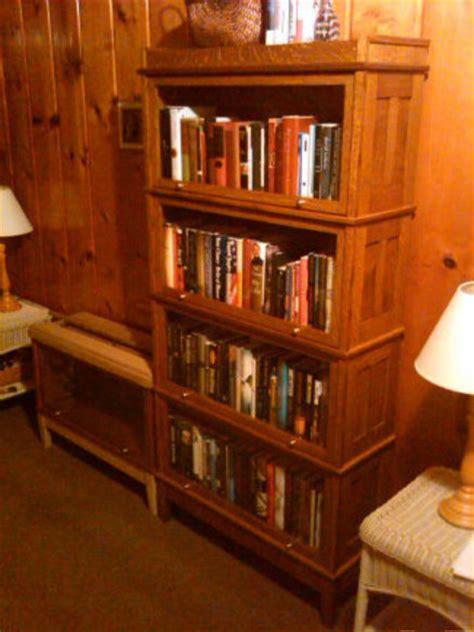 Quartersawn White Oak Barrister Bookcase With Frame And White Barrister Bookcase