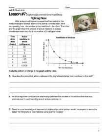 Exponential Growth And Decay Worksheet Algebra 2 Answers by Exponential Growth And Decay Explorations Ballots