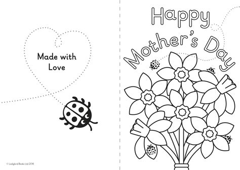 mothers day template card a diy s day card for ones ladybird