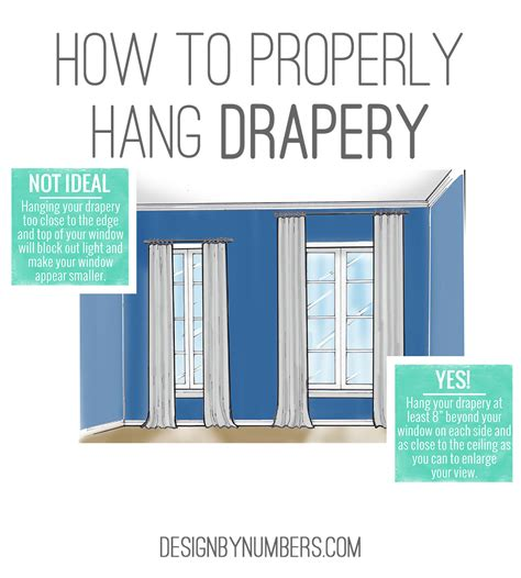 how high to hang curtain rods above window tips design by numbers