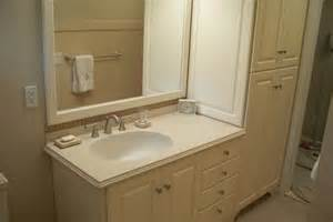 vanity linen cabinets with matching mirror frame by