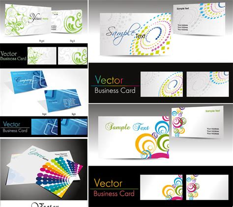 vector business card templates vector graphics