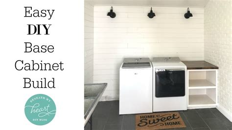 easy diy base cabinet for our laundry room beneath my