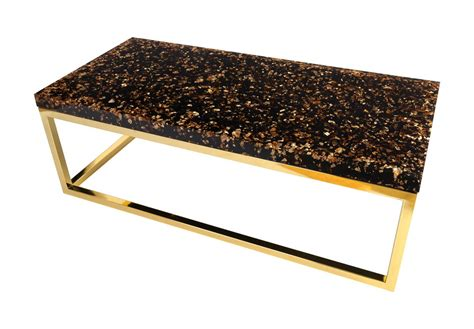 phillips collection captured gold flake coffee table