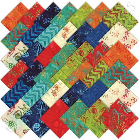 One Fabric Quilts by Moda One For You One For Me Batiks Charm Pack Emerald City Fabrics