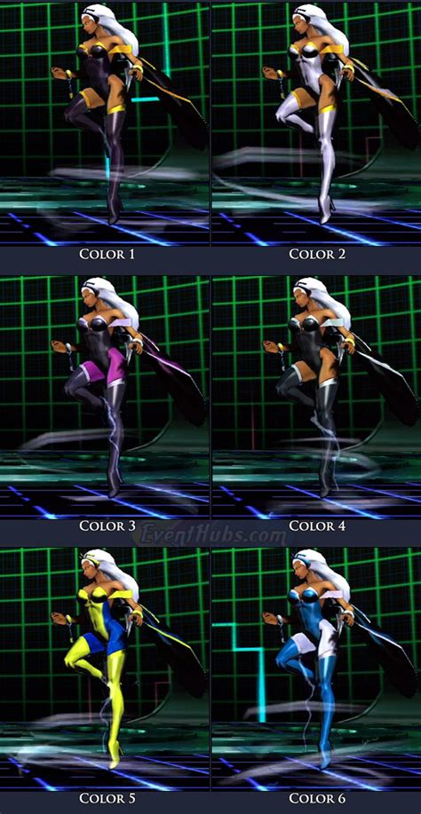 storm ultimate marvel  capcom  moves combos strategy