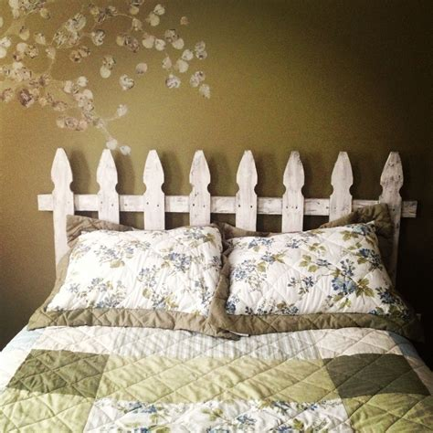picket fence headboard peace and puppy paws