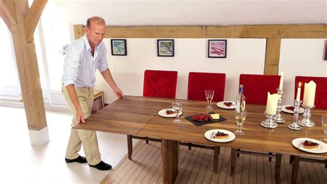 Extendable Table Mechanism by Walnut Extending Table Youtube