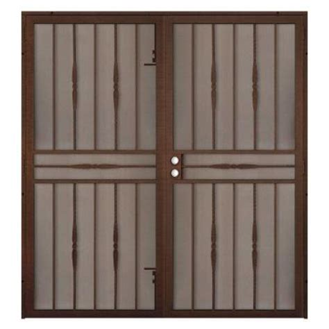Security Patio Doors Home Depot by Unique Home Designs 60 In X 80 In Cottage Copper