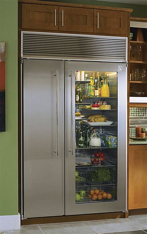 Glass Front Refrigerator For Home by Vignette Design Tuesday Inspiration Glass Front Refrigerators