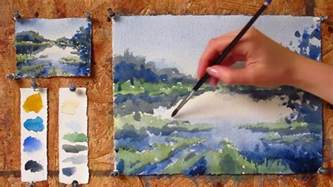 intermediate step by step watercolor tutorial painting a