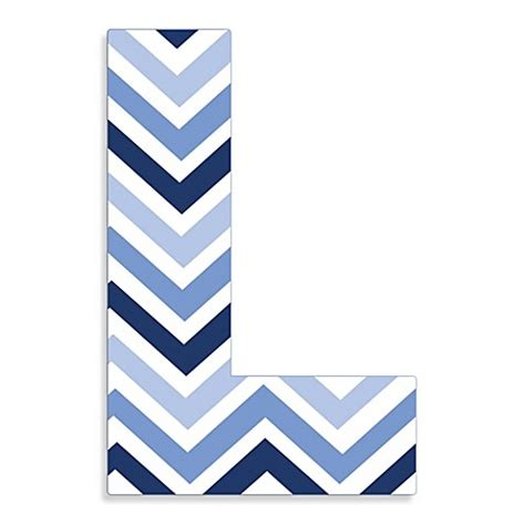"Buy Stupell Industries Tri Blue Chevron 18 Inch Hanging Letter ""L"" from Bed Bath & Beyond"