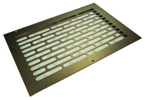 vogue solid steel floor return grille rubbed bronze