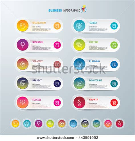 web layout options infographic design template marketing icons business stock