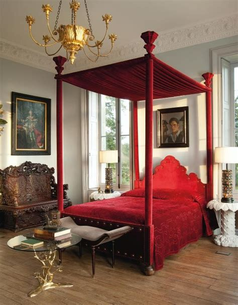 Red Canopy Bed by Red Canopy Bed For The Home Pinterest