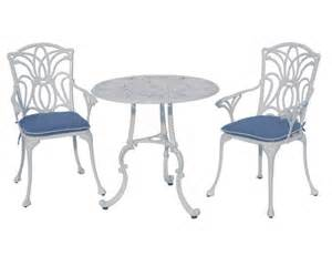 White Patio Table And Chairs Outdoor Garden Patio Furniture Norfolk Table Chairs Bistro Set White Ebay