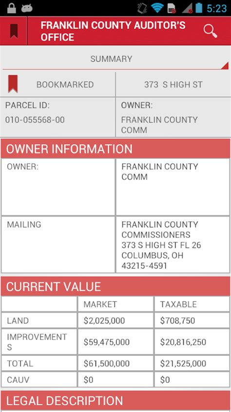 Property Records Franklin County Ohio Franklin County Ohio Auditor Android Apps On Play