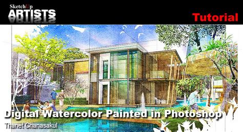 House Floor Plan Software Free digital watercolor painted in photoshop sketchup 3d
