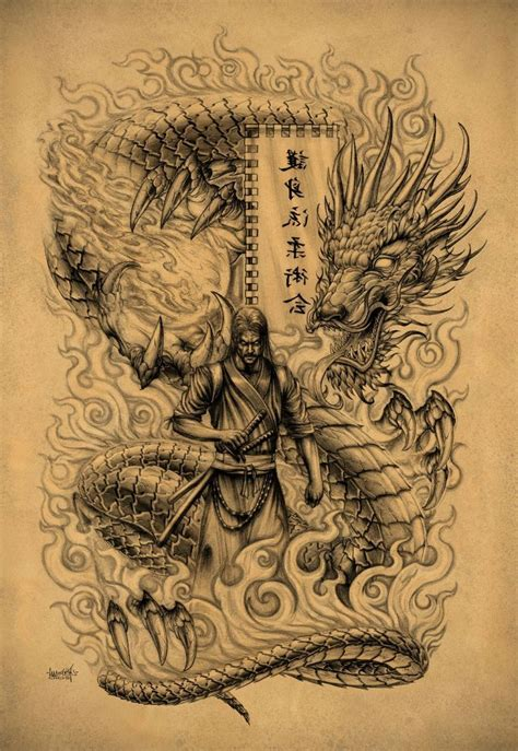 dragon warrior tattoo designs 44 best warrior tattoos images on