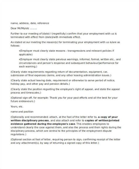 Businessballs Letter Template employee letter templates 7 free sle exle format