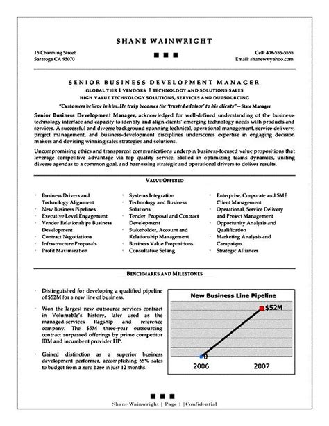 Business Development Resume Objective by Business Development Executive Resume Objective Free Sles Exles Format Resume