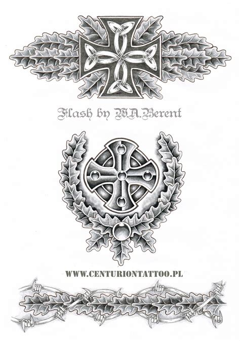 celtic iron cross tattoo flash w a berent centuriontattoo