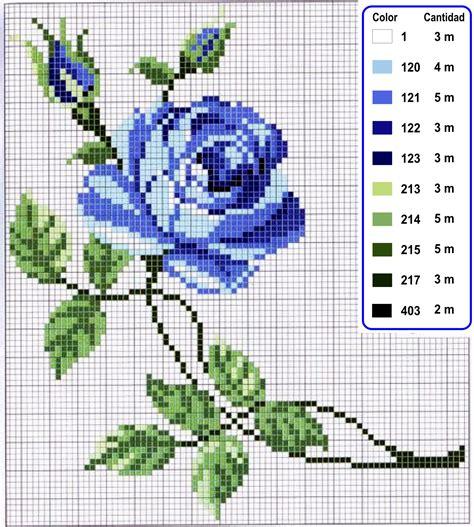 bordados rosas fasnta rosa azul en punto de cruz punto de cruz colecci 243 n de