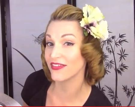 1940 hair tutorial for mid length hair how to 1940s pageboy hair tutorial 1940 s hairstyles