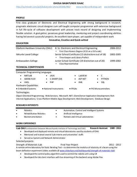 design engineer resume sle sle resume software technical architect sle resume for