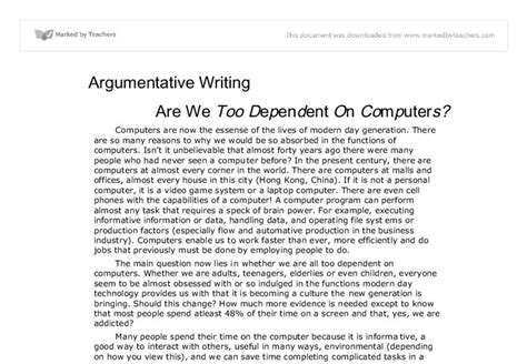 Essay On Technology by Argumentative Essay About Technology
