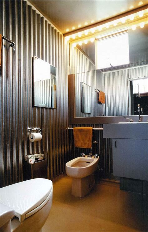 corrugated metal bathroom walls tin shower walls how to prevent moisture problems