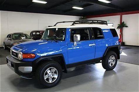 old car manuals online 2007 toyota fj cruiser user handbook purchase used 2007 toyota fj cruiser 4x4 6 speed manual voodoo blue roof rack sensors in santa
