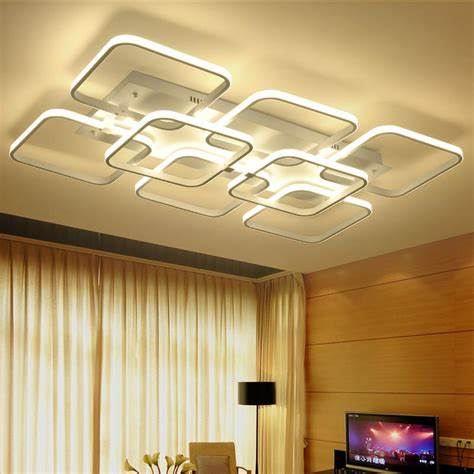 led wohnzimmerleuchte modern led ceiling light rectangle style acrylic shade
