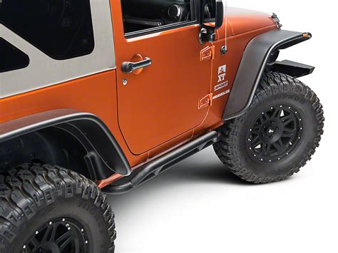 rugged ridge rrc rugged ridge wrangler rrc black rocker guards 11504 23 07 17 wrangler jk 2 door free shipping