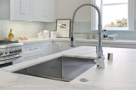 Faucet Hole Cover Brushed Nickel Kitchen Island Traditional Kitchen San Francisco