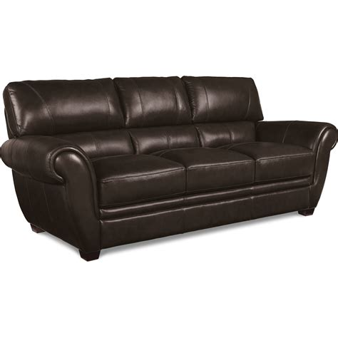 la z boy leather sofa la z boy nitro leather match sofa zak s fine furniture