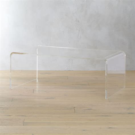 Cb2 Acrylic Coffee Table The Daily Hunt The Neo Trad