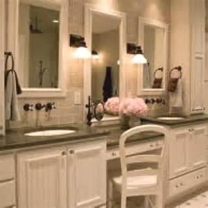 Makeup Vanity Master Bathroom Makeup Vanity In Master Bath New House