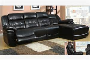 Black Leather Reclining Sectional Sofa Black Leather Reclining Sectional Sofa Recliner Chaise Adjustable Back Contemporary