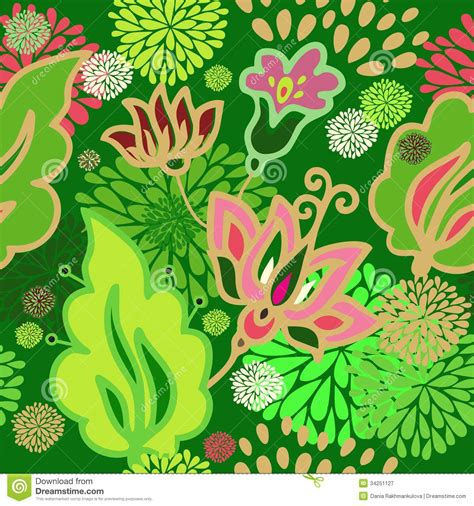 simple batik design flower seamless floral pattern stock image image of floral