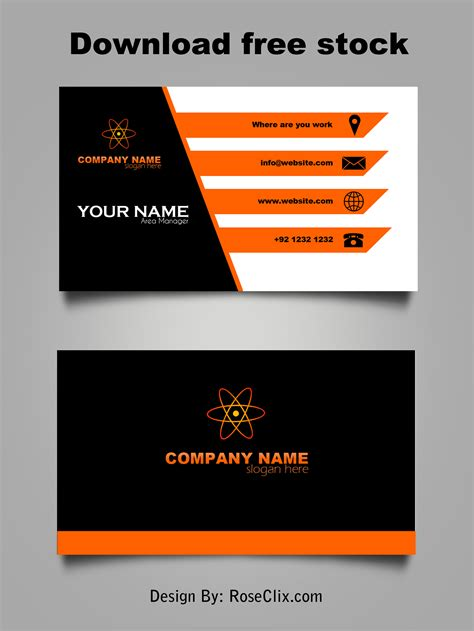 template card design free business cards template psd free downloads