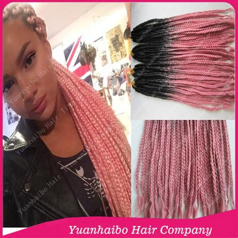 ombre color techniques using braids stock cheap price 22 quot black pink ombre synthetic long