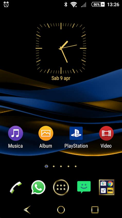 themes for android cherry mobile sapphire sapphire gold theme for xperia android apps on google play