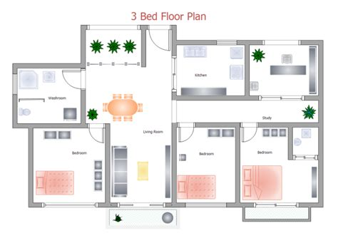 own network home design 3 bed floor plan free 3 bed floor plan templates
